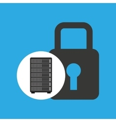 Network server concept security lock graphic vector