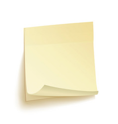 Paper work notes isolated sticky note vector