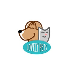 Pets shop logo template vector image