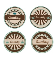 Quality retro labels vector image