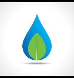 Save nature concept with waterdrop and leaf vector