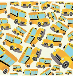 School bus pattern vector image vector image