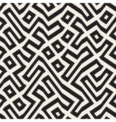 Seamless Maze Lines Geometric Pattern vector image vector image