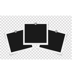 Set of square frames template on metal pins with vector