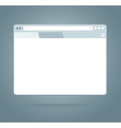 Simple Browser Window vector image vector image