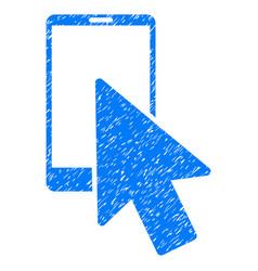 Smartphone arrow pointer grunge icon vector