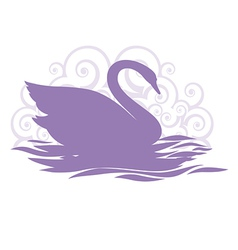 swan silhouette design vector image