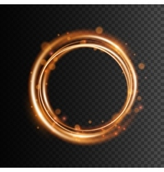 Swirl trail effect on transparent background vector image vector image