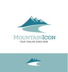 Teal mountains logo vector