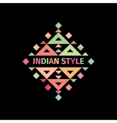 Tribal colorful logo indian style vector
