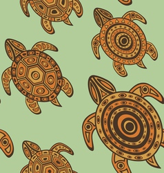 Turtles pattern vector