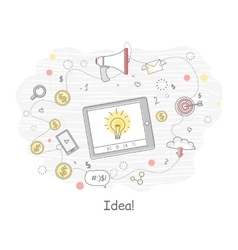 Idea generation banner vector