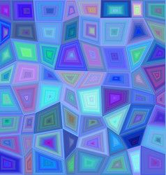 Blue colorful rectangle mosaic background vector