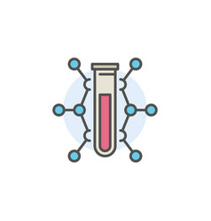 Colorful chemistry icon vector