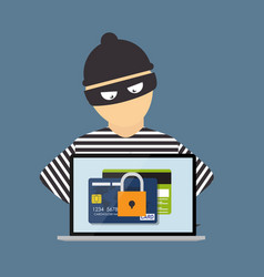 criminal hacker concept of fraud cyber crime vector image