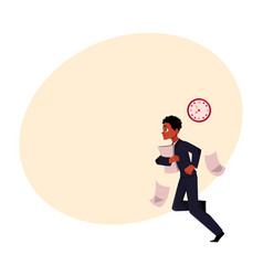 young black african american businessman hurrying vector image