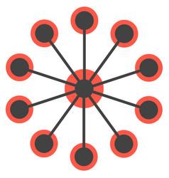 Network concept circles single icon vector