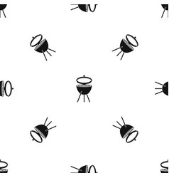 barbecue pattern seamless black vector image