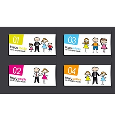 Labels with families vector