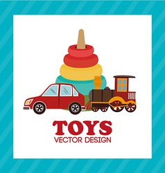 Toys design over blue background vector image