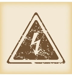 Grungy high voltage icon vector