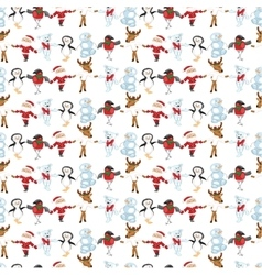 Seamless pattern with traditional christmas vector