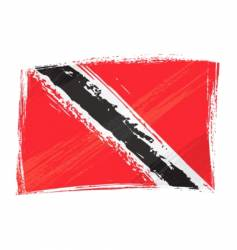 Grunge trinidad and tobago flag vector