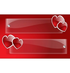 banner day valentine vector image