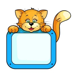 Cat with frame vector