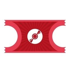 Movie ticket cd icon vector