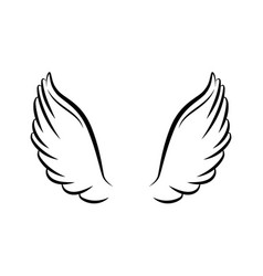 angel wings isolated icon vector image