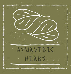 Ayurvedic herbal vector