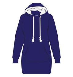 Blue hoodie vector image