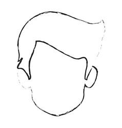 Blurred silhouette faceless front view man vector