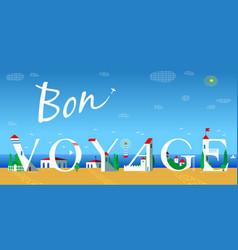 Bon voyage summer coast line vector