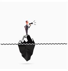 Businessman announce the risk analysis iceberg vector