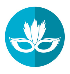 Carnival mask with feathers shadow vector