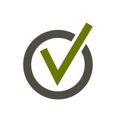 Checkmark in circle icon flat style vector
