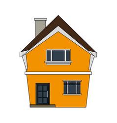 colorful image cartoon facade irregular structure vector image vector image