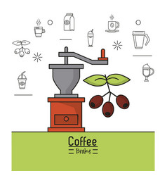 Colorful poster of coffee brake with coffee vector