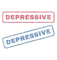 Depressive textile stamps vector