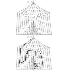 Easy circus maze vector