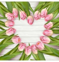Heart shaped tulips EPS 10 vector image vector image