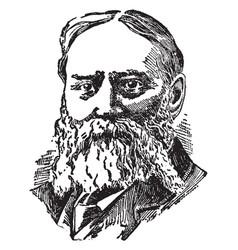 James lowell vintage vector