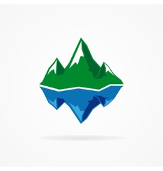 logo of the mountain and iceberg vector image vector image
