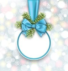 Merry christmas elegant card vector