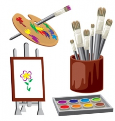 painting materials vector image vector image