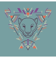 Panther head in frame vector