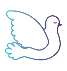 pigeon peace side view on gradient color vector image vector image