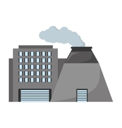 Plant nuclear and factory building vector